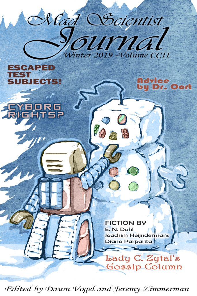 Cover art for Mad Scientist Journal: Winter 2019